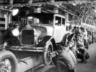Linha de montagem de carros Fordismo