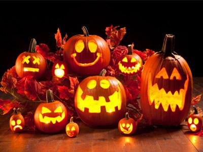 Abóboras decorativas para o Halloween